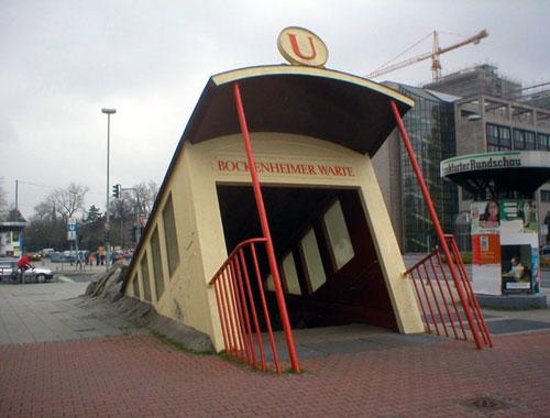 Bockenheimer Warte Underground Subway Entance
